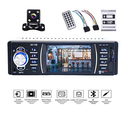 YUGUIYUN 4.1 Zoll HD Auto Radio mit Rückfahrkamera, 1 Din Autoradio MP5 Spieler unterstützt Mirrorlink Bluetooth Freisprecheinrichtung FM Radio Tuner USB 3615B (Hd Autoradio)