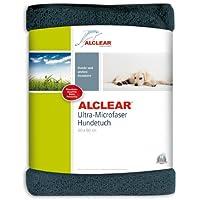 ALCLEAR A257341 Hundetuch Katzentuch Haustiertuch aus reinigender, weicher Ultra-Microfaser, 60 x 60 cm, anthrazit