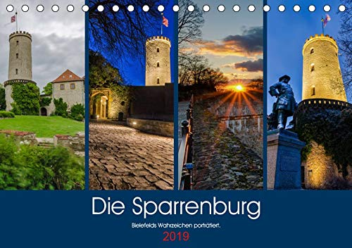 Die Sparrenburg. Bielefelds Wahrzeichen porträtiert. (Tischkalender 2019 DIN A5 quer): Die Sparrenburg im Jahresverlauf. (Monatskalender, 14 Seiten ) (CALVENDO Orte)