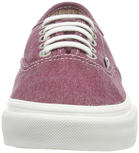 Vans AUTHENTIC SLIM, Damen Sneakers Rot ((Stripes) washed/tawny port) ...