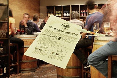Alcoholímetro rápido Alcohol Tester Alcohol Respiración de alcohol einmaliger Uso Auto coche para conductores