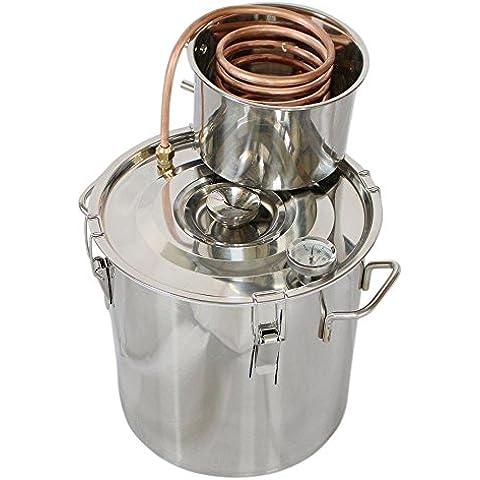 Venta caliente agua Destilador vino Alcohol Distiller caldera inoxidable vino Making Kit de equipo, 30L
