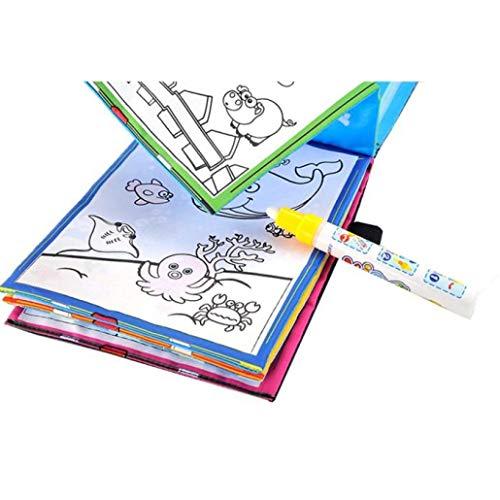 Ogquaton Premium Qualité Magique Dessin De l'eau Livre À Colorier Doodle Magique Stylo Animaux Peinture Motif Animal Eau Écrire Toile
