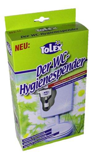 Tolex - WC Hygienespender | WC Reiniger für Aufputzspülkasten