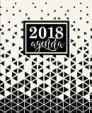 Agenda: 2018 Agenda semana vista español : 190 x 235 mm, 160 g/m² : Triángulos abstractos en blanco y negro: Volume 2 (Calendarios, agendas y organizadores personales)