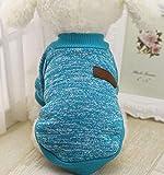 Hawkimin 8 Farbe Klassische Hund Pullover Welpen Fleece Kleidung Niedlich Kleidung Winter Winddicht Warme Haustier Mantel Kleid