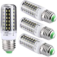 Liqoo® 4 x E27 ES LED Lampadina 9W 6000K - 6500K 650LM Freddo Bianco 360º AC 85-265V 4014 SMD non dimmerabile[Energia classe A+]