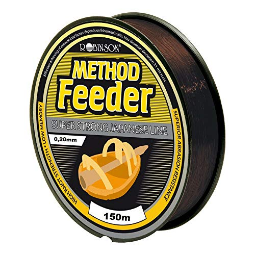 Robinson Angelschnur Method Feeder Feederschnur 150m/0,18-0,28mm Spule Monofile (0,20mm / 5,30kg)