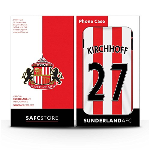 Offiziell Sunderland AFC Hülle / Glanz Snap-On Case für Apple iPhone 4/4S / Pack 24pcs Muster / SAFC Trikot Home 15/16 Kollektion Kirchhoff
