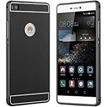 Prevoa ® 丨 Huawei P8 Funda - Metal Funda Cover Case para Huawei P8 5.2 Pulgadas Android Smartphone - Negro