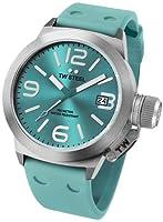 Reloj TW Steel Canteen Fashion Edition TW525 de cuarzo unisex, correa de silicona color verde de TW Steel