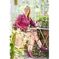 GardenGirl TW0237 Classic Wellington Boots - Plum and Floral Print
