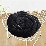 L&U Rose Form Nachahmung Kaninchen Samt Stuhlkissen, Butt Pad, warm und bequem, Rutschfest tragbar (45 * 45 * 7cm)