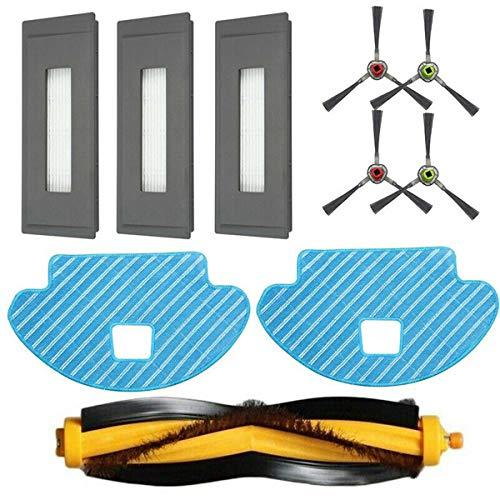 Huntfgold Ersatzteile Hauptbürste+ Wischtücher+ Filter+ Seitenbürsten für Ecovacs Deebot OZMO 930 Saugroboter