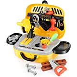 Magicwand Pretend Play Deluxe Kids Handyman Toy Tool Workshop With Realistic Power Tools (31 Pcs)
