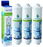3x AquaHouse AH-UIF Universal Fridge Water Filter fits Samsung LG Daewoo Rangemaster Beko Haier etc Fridge Freezer