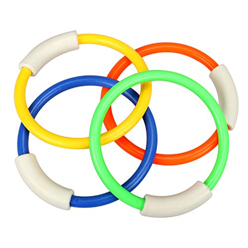 Tacobear Piscina de buceo bajo el agua anillos de juguete 4 piezas palos de buceo 5 piezas y bandidos Torpedo 4 piezas juegos de juegos de agua regalo de entrenamiento para niños niñas