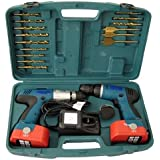 18V CORDLESS DRILL TWIN HAMMER DRILLS SET IMPACT DRIVER KIT IN
