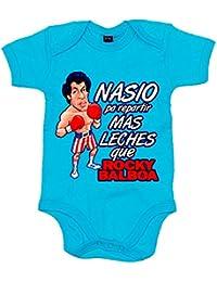 Body bebé Nacido para repartir más leches que Rocky Balboa