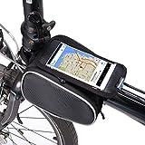 Kapoo Fahrradtasche Rahmentaschen Fahrrad Handy Tasche fuer Mountain Bike geeignet für Handy mit Größe unten 5,5'