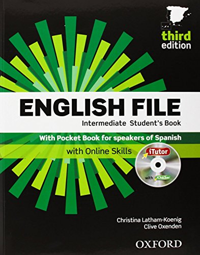 English File. Intermediate Student's Book + Workbook  + Entry Checker (con clave) (English File Third Edition) - 9780194519915 por Clive Oxenden