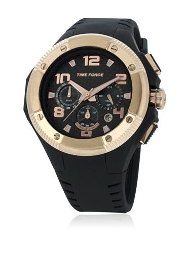 Time Force TF4151M15 - Reloj para hombre con correa de caucho, color negro / gris