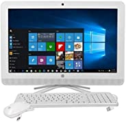 HP ALL IN ONE PC INTEL DUAL CORE-4GB-1TB-DVDRW-CAMERA-WIFI-LAN-BT-20 INCH SCREEN NON TOUCH- WIRED KEYBOARD+MOUSE-WIN10 PRO