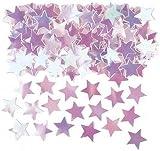Coriandoli da tavola a forma di stelle iridescenti