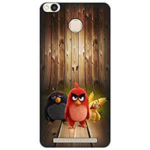 Wizzart Mi Xiaomi Redmi 3S Prime Back Cover Case In Print Designer Cases And Covers Angry Birds Print Design