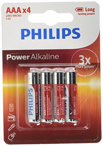 Philips - Pile Alcaline - AAA x 4 - Powerlife (LR03)