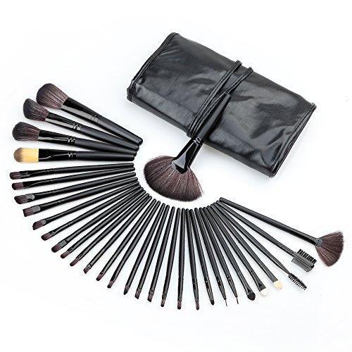 Generic 32 pièces de Pro Maquillage Pinceaux Brosse Set Cosmétique Makeup Avec Sac Pouch Bag noir
