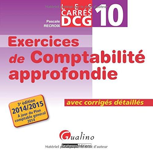 DCG 10 Exercices de comptabilité approf...