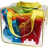 Completo conjunto de juguetes para la playa en bolsa reutilizable con cremallera