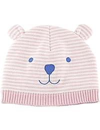 99d50bca948 Tyidalin Bonnet BéBé Fille Chapeau Naissance Tricot en Coton Chaud Automne  Hiver pour Enfant ...