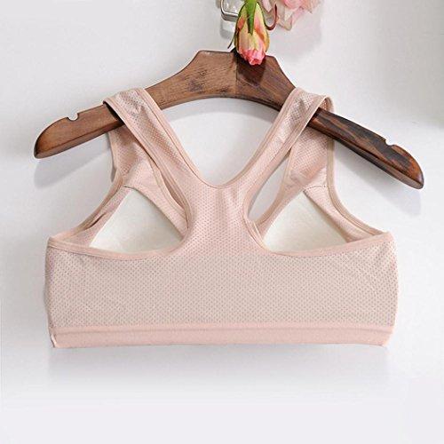 BZLine - Femme Soutien-gorge de Yoga - en Coton mélangé - à Mesh Respirant Kaki