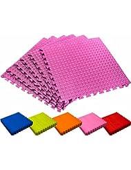 Schutzmatten Set von #DoYourFitness – 6x Puzzle Unterlegmatten für sicheren Bodenschutz für Sportgeräte, Gymnastikräume, Keller - Matten Schutz vor Kratzern, Stößen, Dellen, Kälte, Lärm, Flüssigkeit ! 6x Steckelemente á 60 x 60 x 1,2 cm (ca. 2,2m²) / In verschiedenen Farben erhältlich
