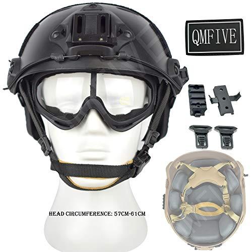 QMFIVE Casco táctico Estilo Militar, Casco de Airsoft Paintball Casco para con...