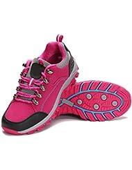 Amantes De Primavera Y Otoño De Deslizamiento Al Aire Libre Zapatos Para Caminar Multicolor De Varios Tamaños,Red-36