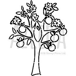 A5 'Apfelbaum' Wandschablone / Vorlage (WS00035840)