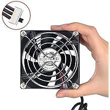 ELUTENG 80mm USB Ventilador silencioso Ventiladores de caja para router, PC, PS4, PS3, Xbox USB Fan