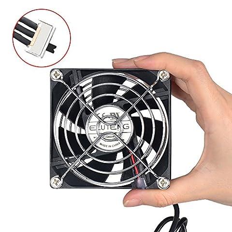 ELUTENG USB Ventilateur 80mm portable Mini Ventilateur 5v USB Fan Cooling Ventilateurs de Refroidisseur PC PS4 Cooler Régulateur pour TV Box Xbox Projecteur Routeur Tank d'Eau