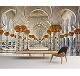 Luxuriöse Atmosphäre Tapete Für Wände 3D Fototapete Wohnzimmer Europäische Architektur Tapete 3D Stereoskopisch, 260X180Cm (102.36X70.87 Zoll)