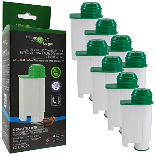 8x FilterLogic CFL-902B Wasserfilter ersetzen Saeco Nr. CA6702/00 - Brita Intenza+ Wasserfilterkartusche für Saeco / Philips / Gaggia Kaffeemaschine - Kaffeevollautomat