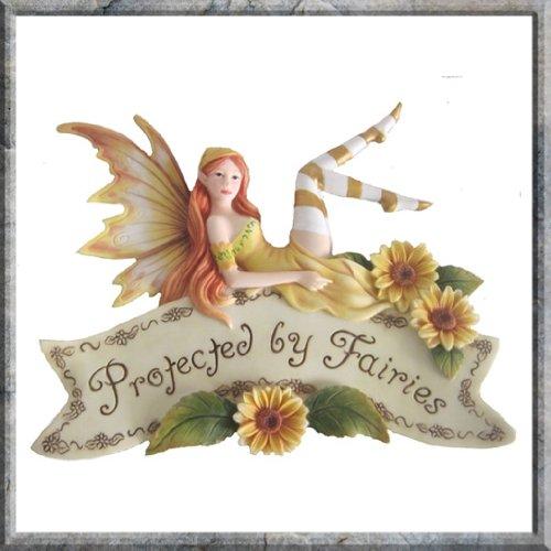 Protette da Fairies-Targa da parete, 22 cm