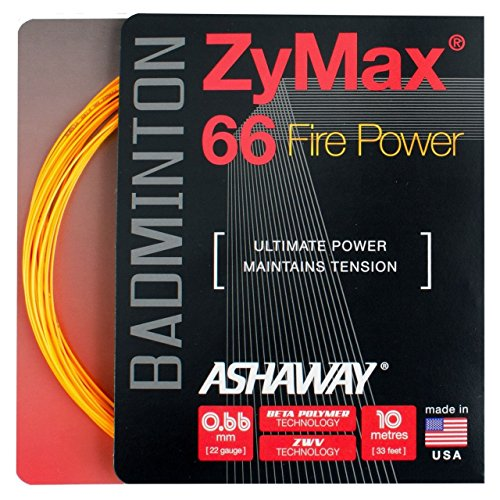 ASHAWAY Zymax 66Fire Badminton Corde 5x 10m Jeux