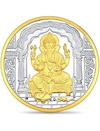 Sukkhi 50 grams, 999 Purity Ganesha Two Tone Silver Coin