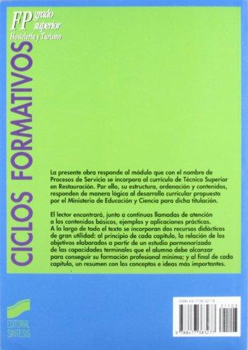 Procesos de servicio en restauración: 2 (Ciclos formativos. FP grado superior)