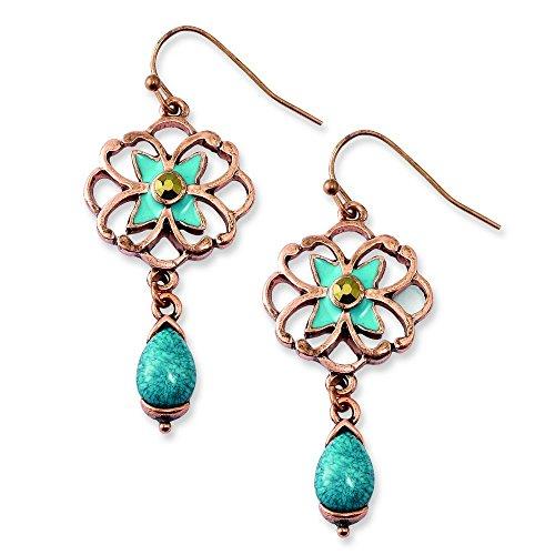 copper-tone-verde-y-piedra-de-cristal-marron-con-azul-esmalte-pendientes