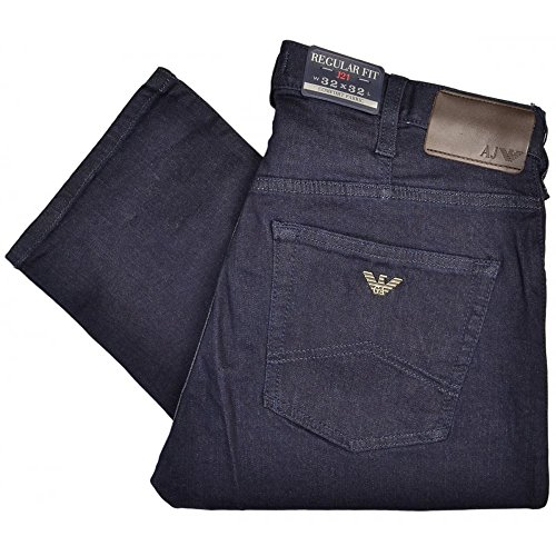 Emporio Armani Mens Jeans J21 Regular Fit Jeans in Denim