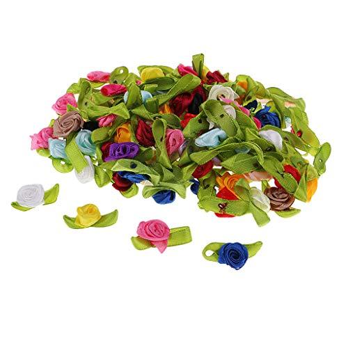 Non-brand 100x Künstliche Seide Rose Kopf Verschönerung Für Floristik DIY